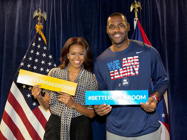 Better Make Room - Michelle Obama & Lebron James